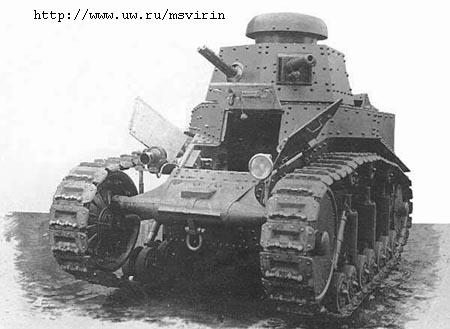 Первые советские танки